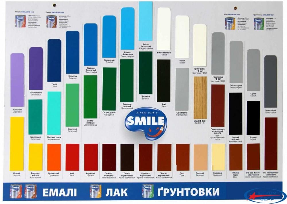 Эмаль ПФ-115 SMILE темно-коричневая 2,8 кг - 1
